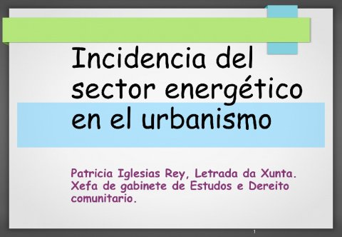 Incidencia enerxética no urbanismo